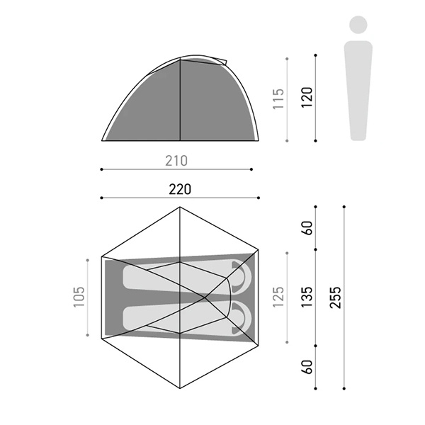 MURACO ムラコ RAPIDE X1 2P MESH BLACK