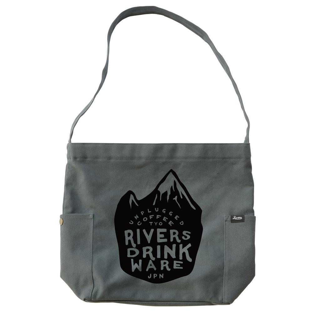 RIVERS リバーズ ショルダートートバッグ ノウ エレマン MOUNTAIN グレー