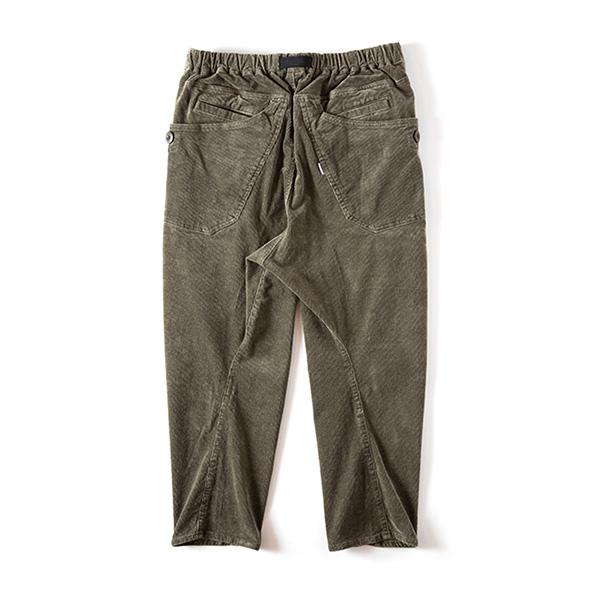 Grip Swany グリップスワニー Jog 3D Corduroy Wide Camp Pants Olive