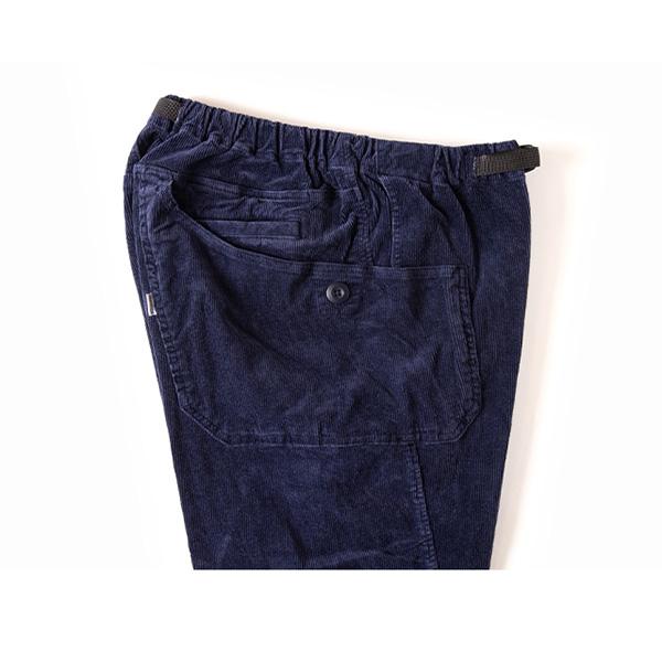 Grip Swany グリップスワニー Jog 3D Corduroy Wide Camp Pants Navy