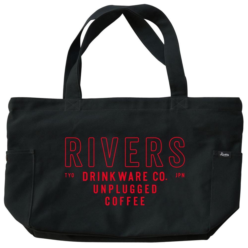 RIVERS リバーズ ジッパートップトートバッグ ノウ エレマン ブラック