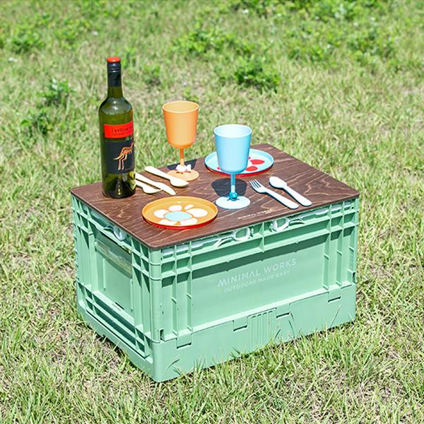 MINIMAL WORKS ミニマルワークス Folding Box S Green Tea