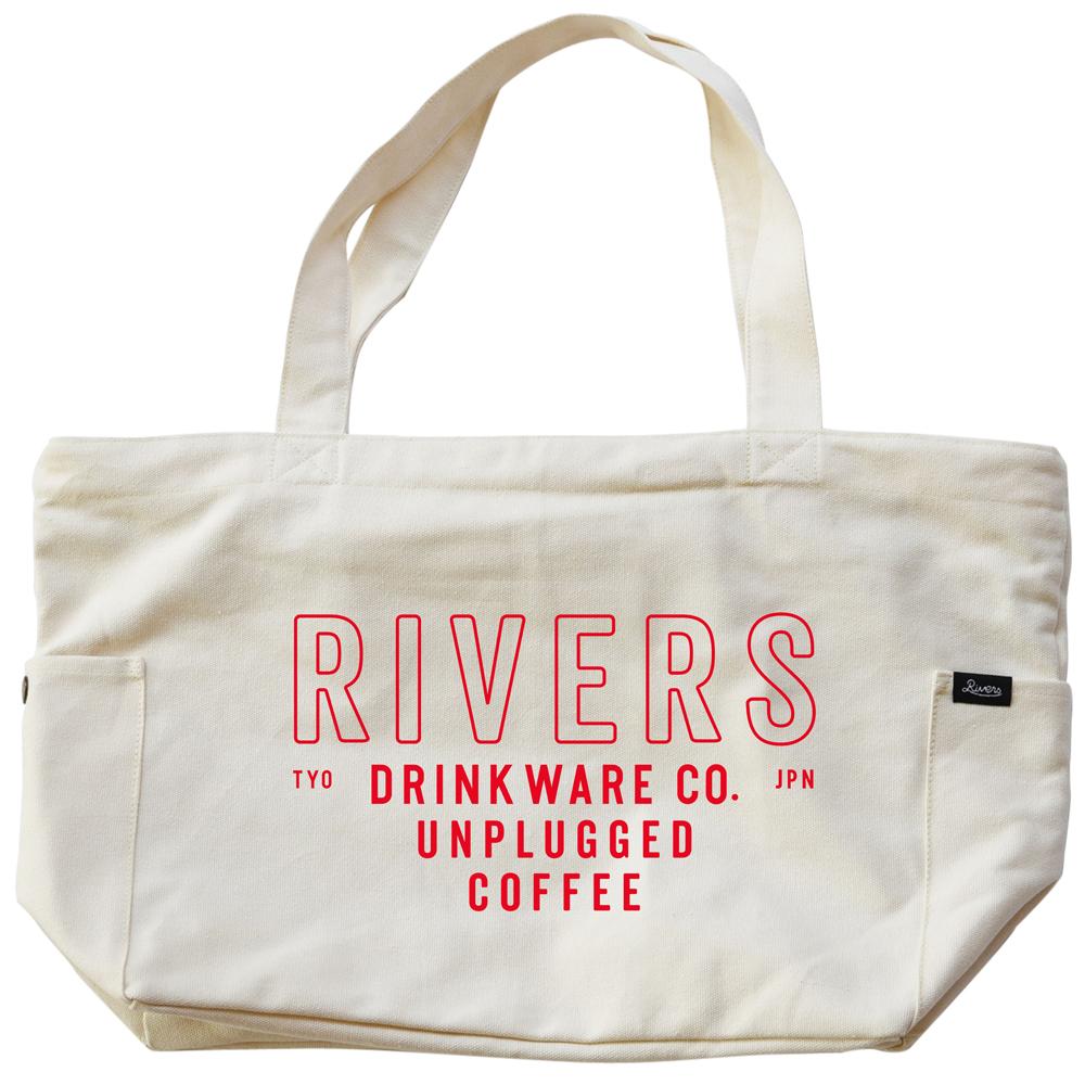 RIVERS リバーズ ジッパートップトートバッグ ノウ エレマン ナチュラル