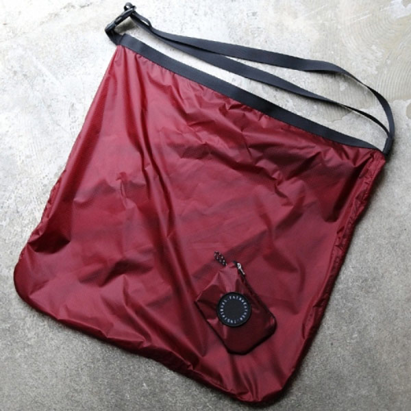 FAIRWEATHER フェアウェザー packable sacoche burgundy