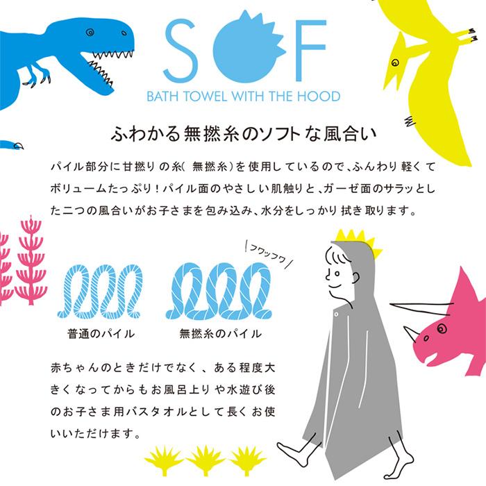 ソフ コンテックス フード付きバスタオル 今治タオル 出産祝い 名入れ無料  バスローブ バスポンチョ おむつケーキと同梱可 日本製