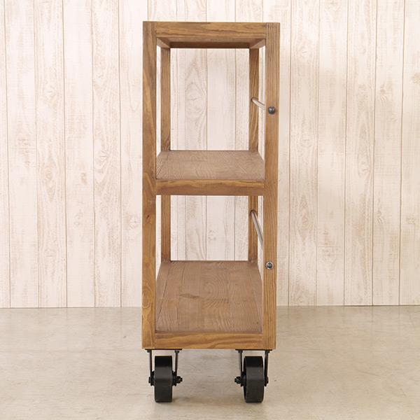 MOSH ムート MUT シェルフ M ミドル ガルト GART 高さ1m 木製 オープン ラック キャスター付き 棚 収納 オールドパイン アイアン おしゃれ