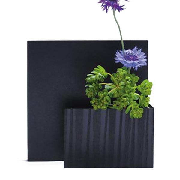 花瓶 おしゃれ フラワーベース 花器 一輪挿し アルミ シンプル モダン 和風 ブラック 黒 日本製 アート フレーム 積 正方形 アルアート ALART AF-1SKB