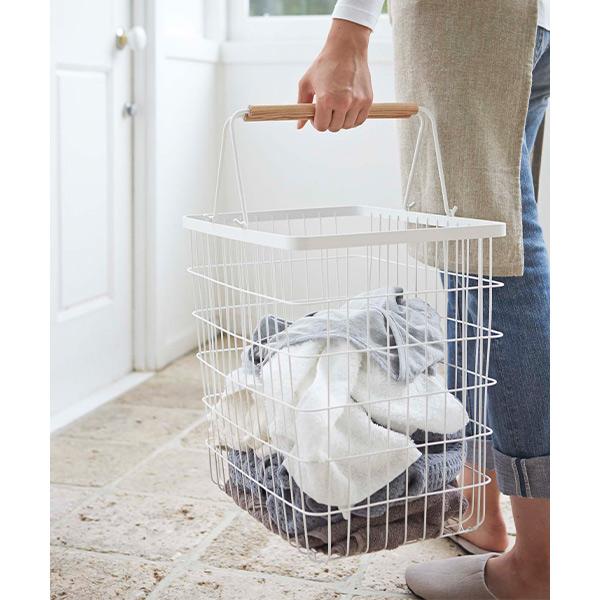 トスカ 洗濯かご 洗濯 籠 洗濯入れ ランドリーワゴン バスケット キャスター付き 3点セット シンプル おしゃれ 北欧 インテリア ホワイト シンプル tosca 773300