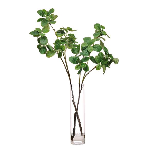 マグノリアリーフ フェイク グリーン 枝 造花 GREENPARK グリーンパーク ウォーターシリンダー H40 PRGR-1176 観葉植物 おしゃれ ガラス インテリア 人気