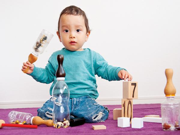 トイ グリップ 朱拭き漆 仕上げ レッド MokuNeji モクネジ TOY Grip urushi shu おもちゃ ギフト ガラガラ 出産祝い 木製 プレゼント