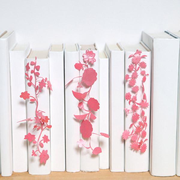 しおりぼん SEE OH!Ribbon しおり リボン おしゃれ かわいい プレゼント フラワー 花 青 紫 ピンク ブルー ブックマーク セメントプロデュースデザイン