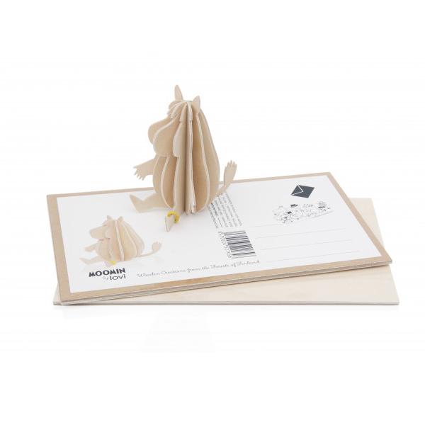 lovi ムーミン ロヴィ 9cm メール便 対応 Lovi 北欧 カード ポストカード 木製 MOOMIN シンプル おしゃれ インテリア ナチュラル 木
