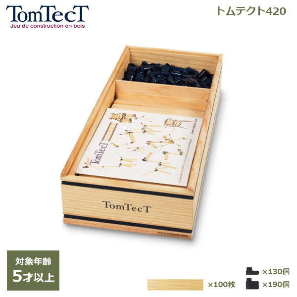トムテクト 420 木製 知育 玩具 5歳 以上 おもちゃ 立体 パズル 工作 ブロック プレゼント ギフト お祝い 6歳 小学生 入学 卒園 進級 TT420