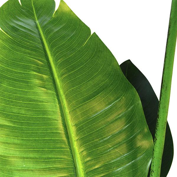 ストレチア フェイク グリーン 枝 造花 GREENPARK 皿付 スリムプランター PRGR-0981 エコストーン リバーロック ウッドチップ 陶器 観葉植物 おしゃれ
