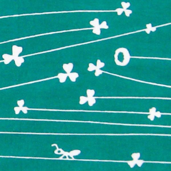 手ぬぐい おしゃれ てぬぐい 手拭い クローバー ハンカチ かわいい プレゼント こしぇる工房 メール便 対応 オリジナル ギフト 岩手 東北 お土産 植物