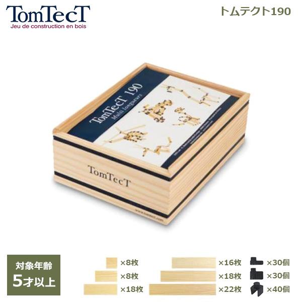 トムテクト 190 木製 知育 玩具 5歳 以上 おもちゃ 立体 パズル 工作 ブロック プレゼント ギフト お祝い 7歳 小学生 入学 卒園 進級 TT190