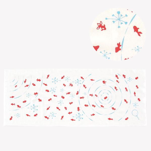 手ぬぐい おしゃれ てぬぐい 手拭い 金魚 ハンカチ かわいい プレゼント こしぇる工房 メール便 対応 オリジナル マフラー ギフト 岩手 東北 お土産 和柄