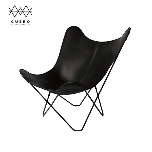 BKF バタフライ チェア Butterfly Chair マリポサ Cuero クエロ  ブラック 黒   ラウンジ レザー 革 インテリア シック 高級 ブランド