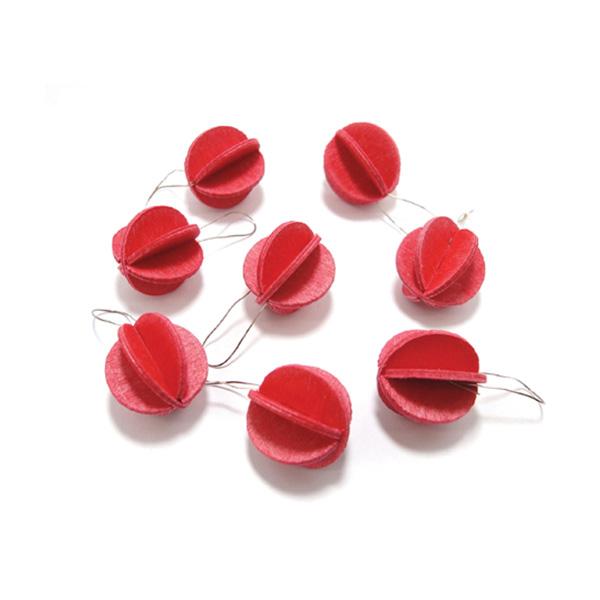 ロヴィ ミニ ボール 1.7cm×8個 メール便 対応 ブライト レッド ナチュラル ウッド ライト グリーン Lovi 北欧 オーナメント 木製カード