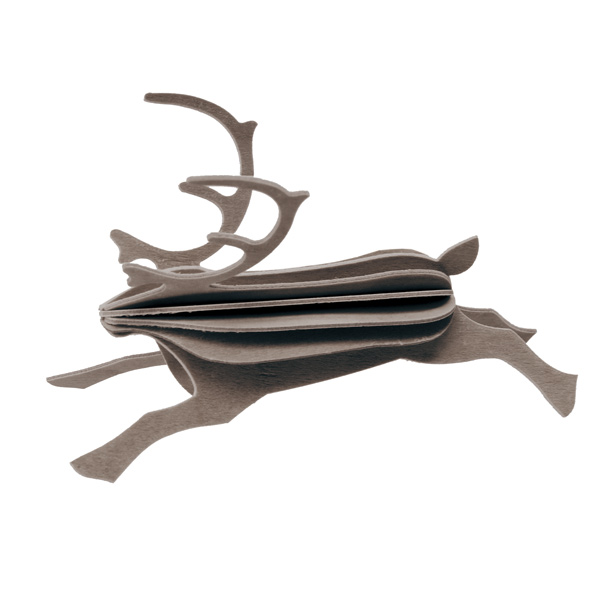 ロヴィ レインディア トナカイ 12cm 全2色 ホワイト グレイ メール便 対応 Lovi 木製 カード インテリア 北欧 シンプル おしゃれ