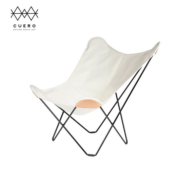 BKF バタフライ チェア Butterfly Chair マリポサ Cuero クエロ  キャンバス ホワイト 白 | 麻 布 インテリア シック 高級 ブランド ウッドデッキ