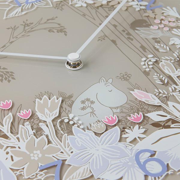 ムーミン 時計 壁掛け Moomin Picking Flowers タイムピーシーズ グッズ スナフキン ウォールクロック インテリア プレゼント MTP030009