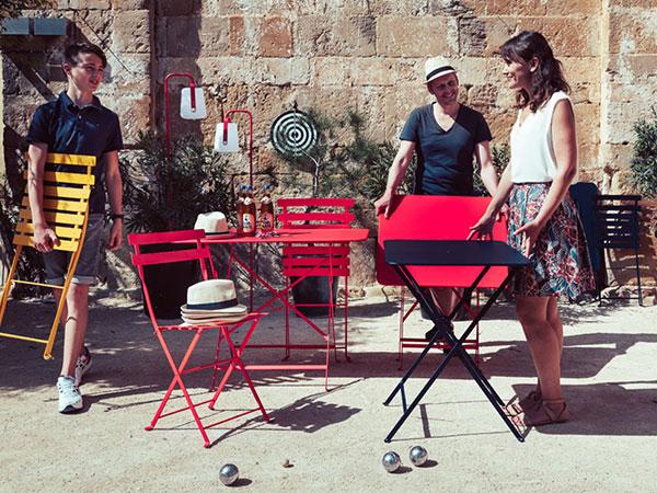 ビストロ スクエア テーブル 57 ホワイト Fermob bistro フェルモブ 高さ73cm 折りたたみ メタル ガーデン テラス アウトドア 四角 おしゃれ