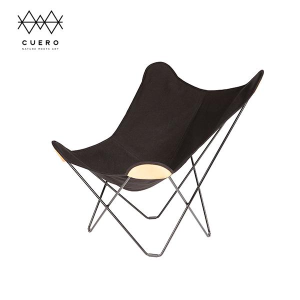 BKF バタフライ チェア Butterfly Chair マリポサ Cuero クエロ  キャンバス ブラック 黒 | 麻 布  インテリア シック 高級 ブランド ウッドデッキ
