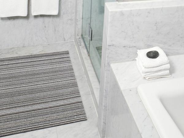 玄関マット 屋外 室内 おしゃれ バスマット キッチンマット ドアマット チルウィッチ 46×71cm スキニ— ストライプ chilewich doormat skinny stripe shag