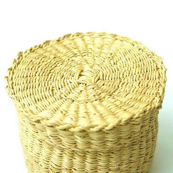 水草 丸かご 小 ババグーリ おしゃれ 小物入れ エレファントグラス カゴ ナチュラル ミニ 自然素材 手作り ふた付き 収納 ボックス ケース 籠 JO466LKB001