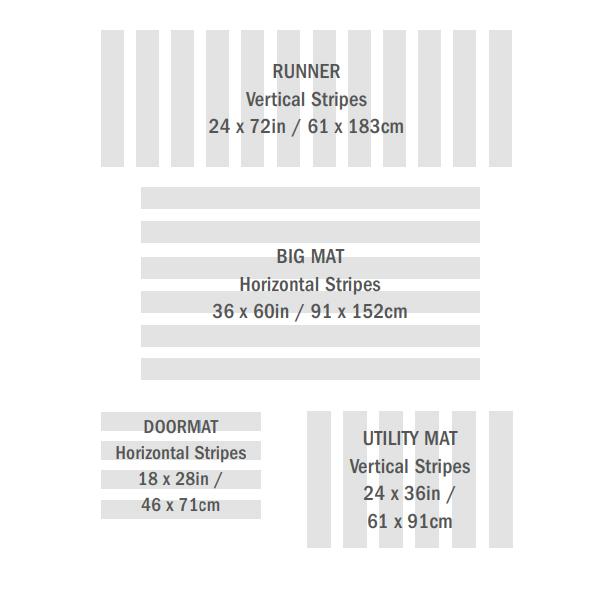 玄関マット 屋外 室内 おしゃれ バスマット キッチンマット ドアマット チルウィッチ ランナー 61×183cm スキニ— ストライプ シャグマット
