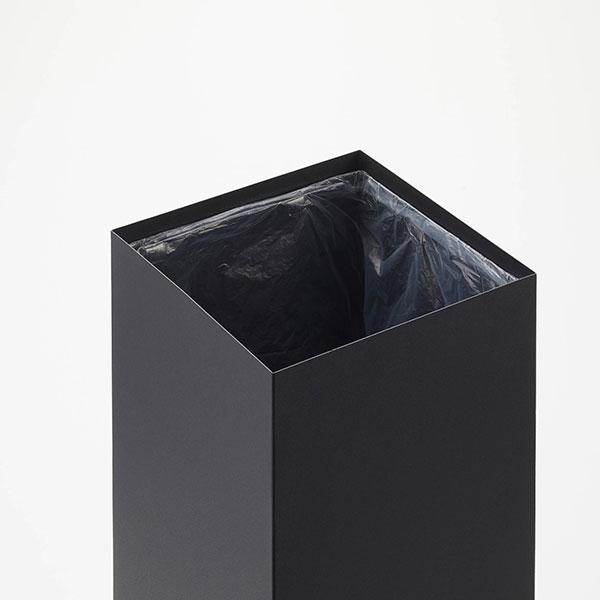 トラッシュカン リン ゴミ箱 27L シンプル スリム 大容量 インテリア スチール 山崎実業 アイアン 白 黒 ナチュラル ブラウン 774530 774531