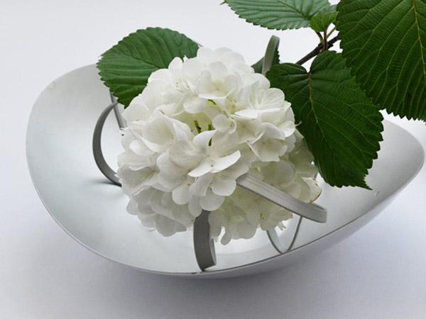 花瓶 おしゃれ 一輪挿し 花びん 花器 フラワーベース 軽量 花あそび L+リング 3本 ALART アルアート シンプル アルミ シルバー インテリア かわいい
