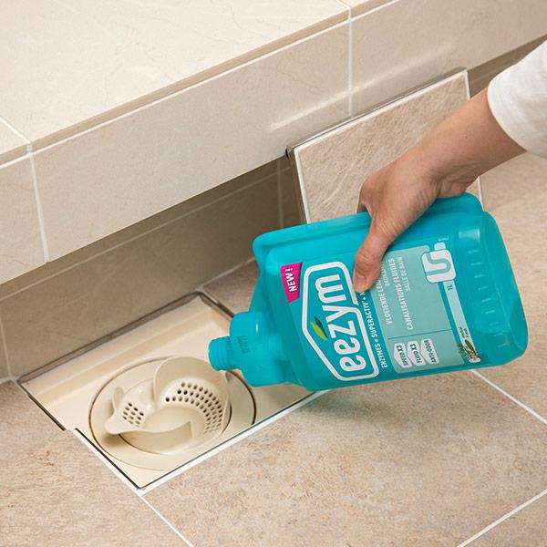 eezym イージム パイプ クリーナー 洗面 浴室 用 ハーバル 1L| 風呂 排水溝 ぬめり 中性 洗剤 ナチュラル