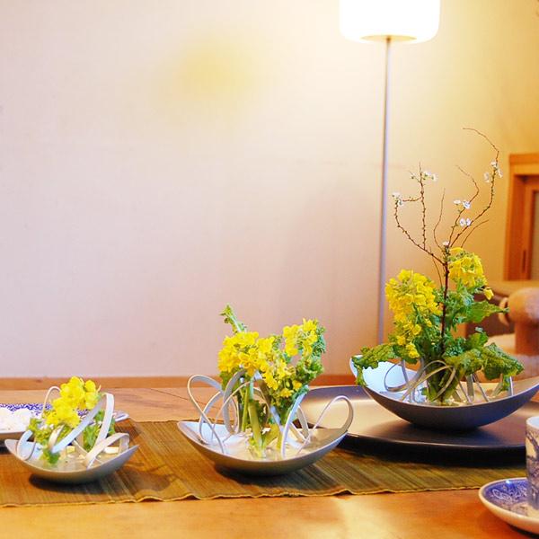 花瓶 おしゃれ 一輪挿し フラワーベース 花あそび SML+リング6本 セット ALART アルアート シンプル 軽量 アルミ シルバー 自在 簡単 国産 かわいい