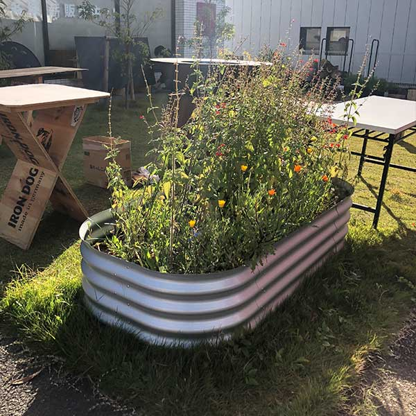 プランター 大型 長方形 ボックス 鉢 ガーデンベッド VITAVIA ビタビア VRGBB402al 簡単 おしゃれ 野菜 菜園 屋外 植木鉢 ガーデン用品 庭 花壇 園芸 ガーデン