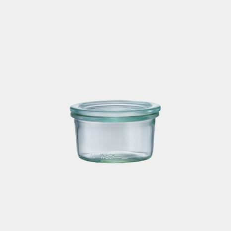 weck WECK ウェック キャニスター ガラス モールド シェイプ 140 ml WE-976 保存 容器 保存容器 耐熱ガラス 密閉 保存瓶 おしゃれ キッチン収納 かわいい