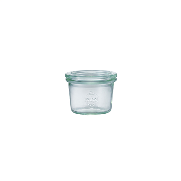 weck WECK ウェック キャニスター ガラス モールド シェイプ 80 ml WE-080 保存 容器 保存容器 耐熱ガラス 密閉 保存瓶 おしゃれ キッチン収納 かわいい