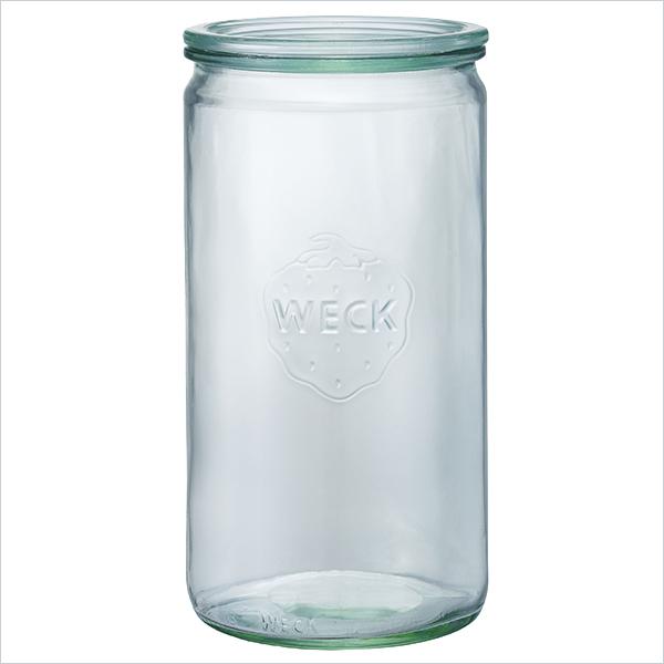 ストレート シェイプ 1550 ml WE 974 フタLサイズ STRAIGHT WECK ウェック キャニスター 保存 容器 耐熱 ガラス 密閉 保存瓶
