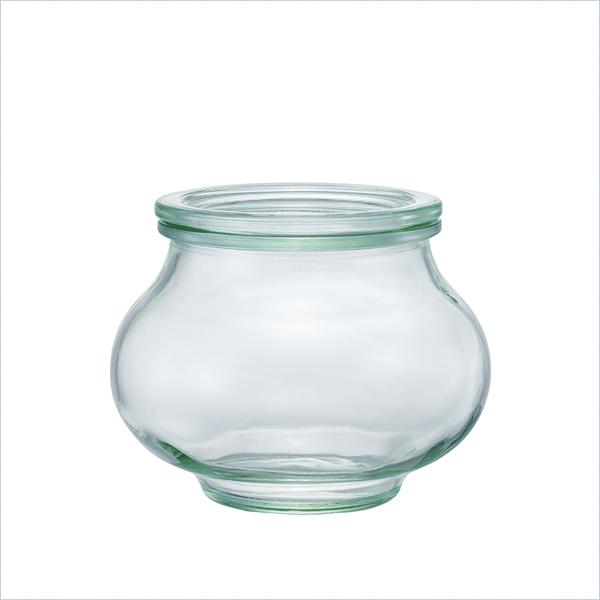 weck WECK ウェック キャニスター ガラス デコシェイプ 500 ml WE-901 保存 容器 保存容器 耐熱ガラス 密閉 保存瓶 おしゃれ キッチン収納 かわいい 小物入れ