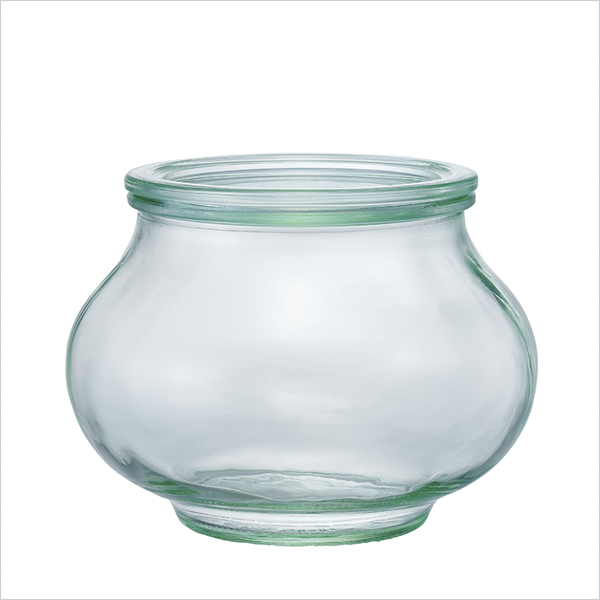 weck WECK キャニスター ガラス ウェック デコシェイプ 1000 ml WE-748 保存 容器 保存容器 耐熱ガラス 密閉 保存瓶 おしゃれ キッチン収納 かわいい 小物入れ