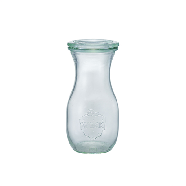 weck WECK ウェック キャニスター ガラス ジュースジャー 290 ml WE-763 保存 容器 保存容器 耐熱ガラス 密閉 保存瓶 おしゃれ キッチン収納 かわいい 小物入れ
