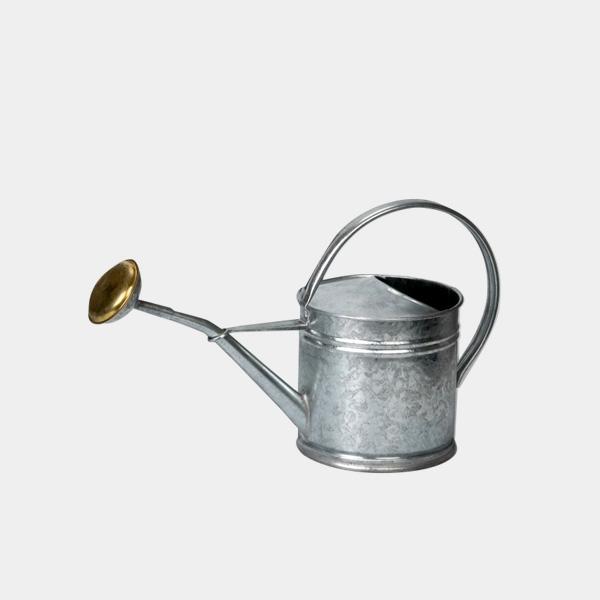 ブリキ ジョーロ 1.5L シルバー 小 容量 おしゃれ レトロ ガーデニング ウォータリングカン じょうろ 水差し 水遣り 水やり 園芸 小さい 小型 かわいい