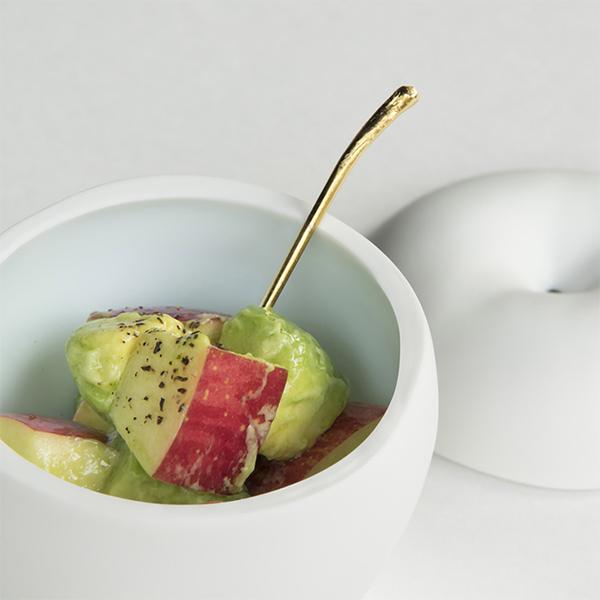 小物入れ 小物収納 小物ケース りんご の いれもの グラフ graf 磁器 小鉢 テーブルウェア 林檎 小物入れ ギフト プレゼント ギフト おもしろ 果物 ホワイト 白