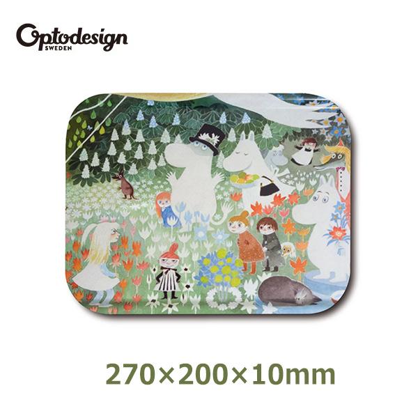 ムーミン ファミリー グッズ 27cm 木製 可愛い プレート トレー トレイ お盆 optodesign オプトデザイン 北欧 Moomin デンジャラスジャーニー OPD060001