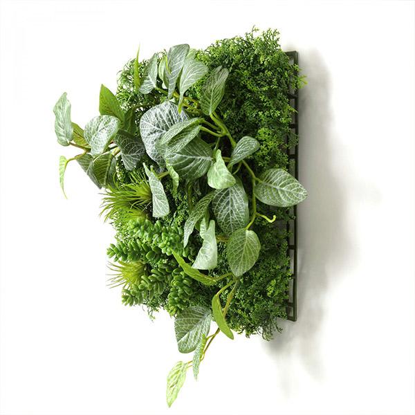 フェイクグリーン 壁掛け 観葉植物 造花 フィットニア セダム グリーンマット ウォールグリーン おしゃれ 人口植物 植物 PRGR-1314 GREENPARK グリーンパーク