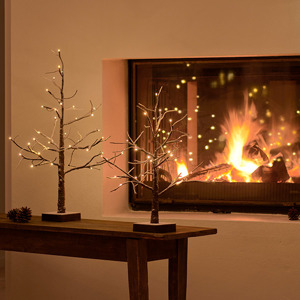 ブランチ ツリー 40cm LED ライト 北欧 飾り 電飾 リモコン オフタイマー インテリア ミニ おしゃれ 白樺 雪 SIRIUS Kate 35540