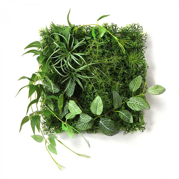 フェイクグリーン 壁掛け 観葉植物 造花 エアプランツ フィットニア グリーンマット ウォールグリーン おしゃれ 人口植物 PRGR-1315 GREENPARK グリーンパーク
