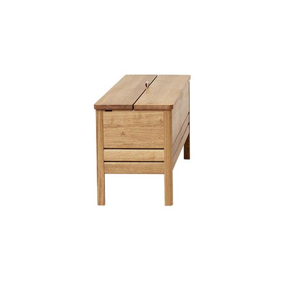 Form&Refine フォーム リファイン エーライン ストレージ ベンチ オーク | 棚 椅子 ナチュラル シンプル 北欧 無垢 ブランド 木製 高級 収納