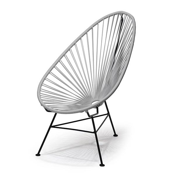 アカプルコ チェア 正規品 座面高38cm カラー ガーデン 1人掛け イス 椅子 屋外 屋内 アウトドア おしゃれ 黄